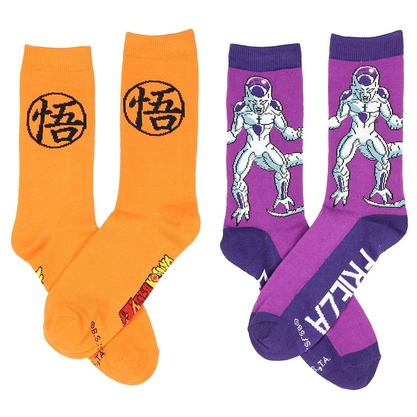 Dragon Ball Z Anime Kame Frieza 2 Pack Unisex Crew Socks-One Size Fits Most