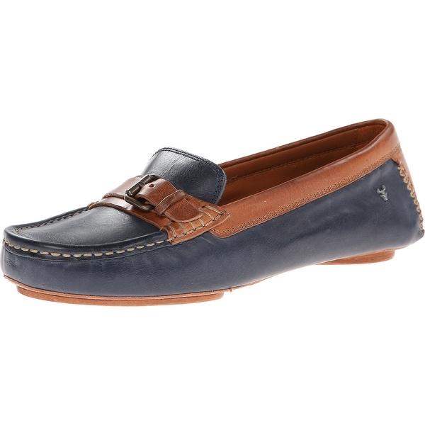Trask NEW Blue Women's Shoes Size 6.5M Kara Leather Loafers
