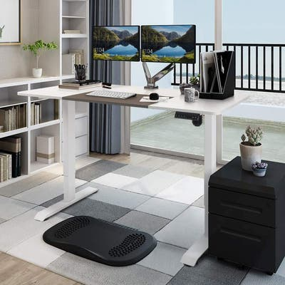 Homall Electric Height Adjustable Standing Desk 55inch Office Desk