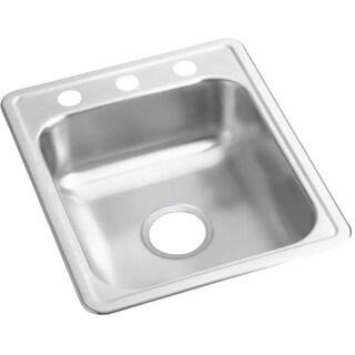 """Elkay D11721 Dayton 17"""" Single Basin Drop-In Stainless Steel Bar Sink"""