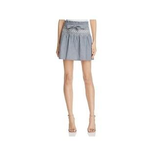 Current/Elliott Womens Mini Skirt Medium Wash Denim