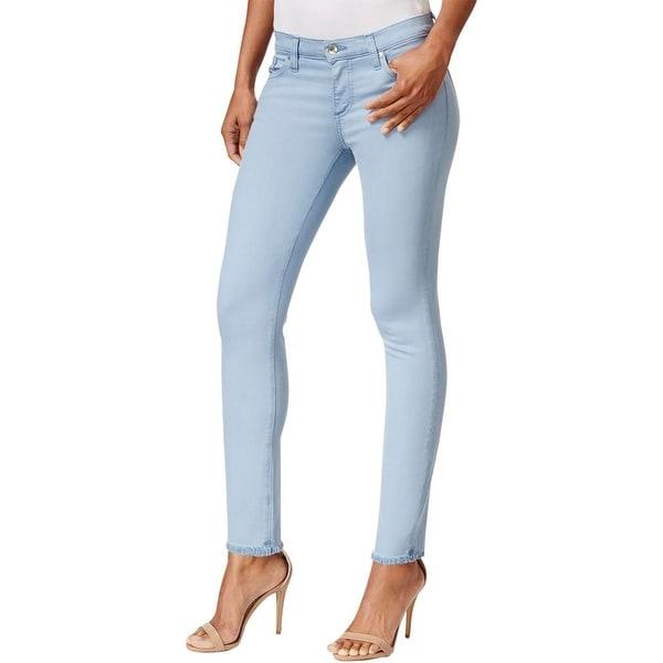 Big Star Womens Alex Ankle Jeans Denim Raw Hem