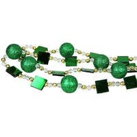 6' Candy Fantasy Green and Gold Beaded Christmas Garland
