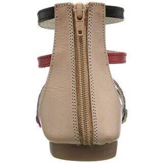 Rebels Womens Natalia Leather Colorblock Gladiator Sandals - 6 medium (b,m)