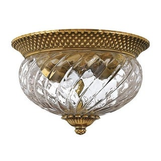 2 Light Indoor Flush Mount Ceiling Fixture from the Plantation Collection