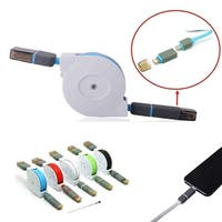 2Pack  Retractable Micro USB Charge & Sync Cable
