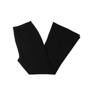 Tahari ASL Womens Dress Pants Crepe Wide Leg