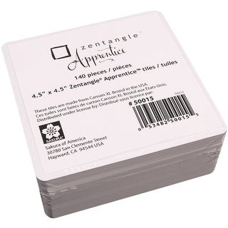 "Zentangle Apprentice Refill Tiles 4.5""X4.5"" 140/Pkg-"