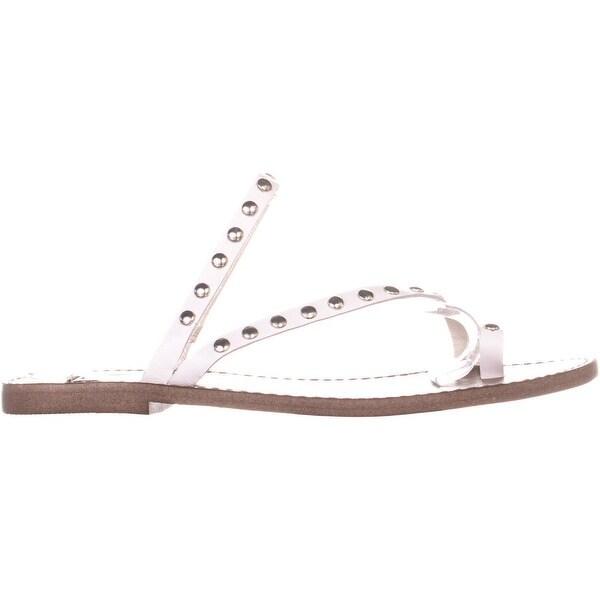 White Steve Madden Daria Slip On Strappy Flat Sandals 9 US
