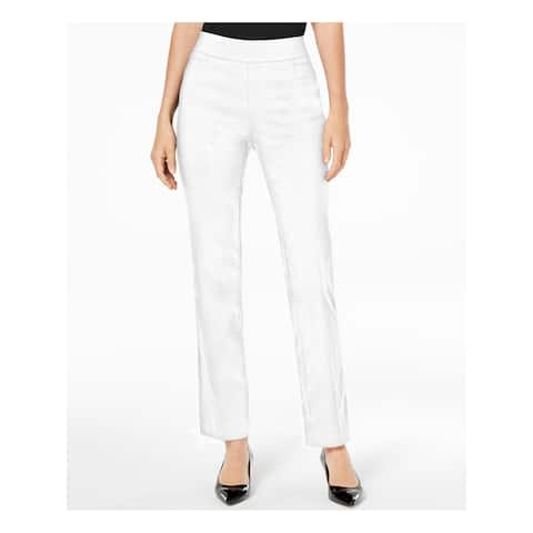 JM COLLECTION Womens Ivory Pocketed Formal Pants Size L