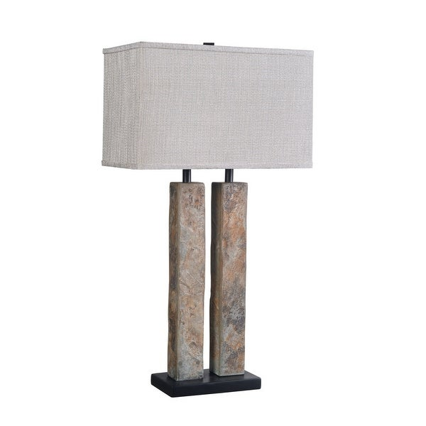 Design Craft Dayton Natural Slate 30-inch Table Lamp. Opens flyout.