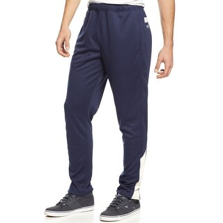 American Rag Performance Tapered Striped Track Pants Crisp Navy Blue
