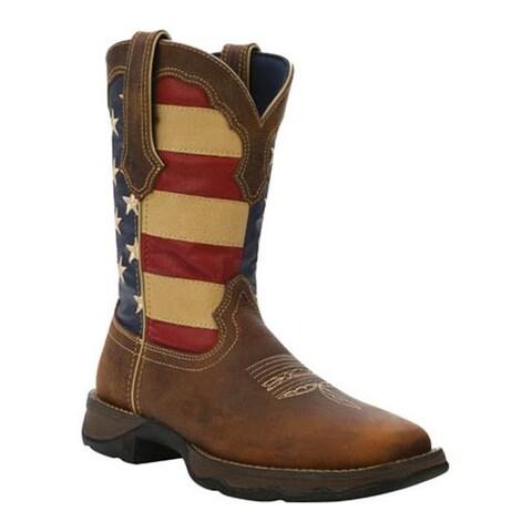 "Durango Boot Women's RD4414 10"" Lady Rebel Brown/Union Flag"