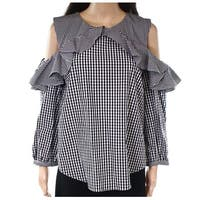 Lauren by Ralph Lauren Women's Checkered Blouse