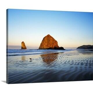 Premium Thick-Wrap Canvas entitled Haystack Rock