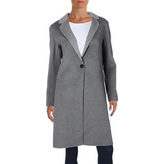 Nanette Lepore Womens Double Face Coat Wool Notched Lapel