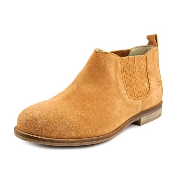 Coolway Nigel Women Round Toe Suede Tan Ankle Boot