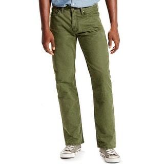 Levi's 514 Regular Fit Straight Leg Jeans Green Moss 29 x 30