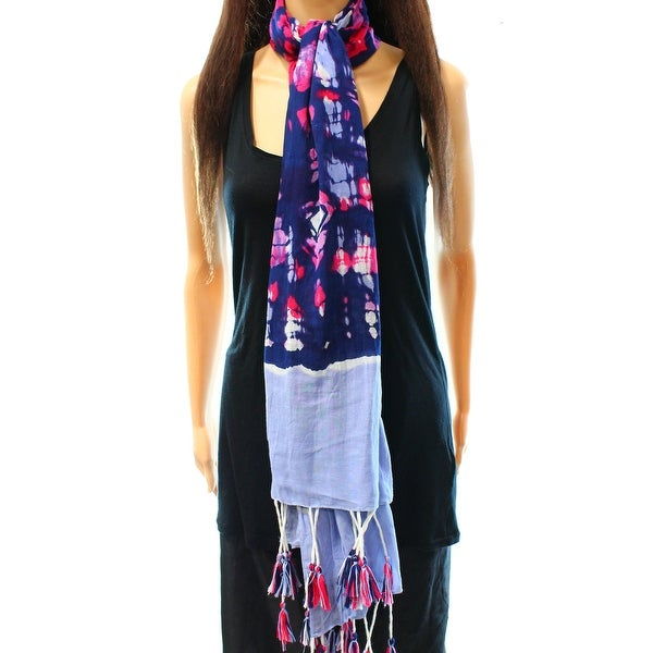 c5ef716af741 Shop INC NEW Blue Red White Size Tie-Dye Print Tassel Fringe Wrap Scarf -  Free Shipping On Orders Over  45 - Overstock.com - 17865722