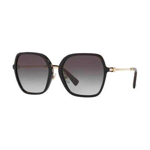Valentino VA4077F 50018G 57 Black Woman Square Sunglasses