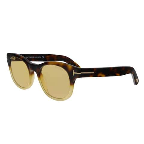 201b19ca545177 Tom Ford FT0531 55E Fisher Havana Yellow Square Sunglasses - No Size