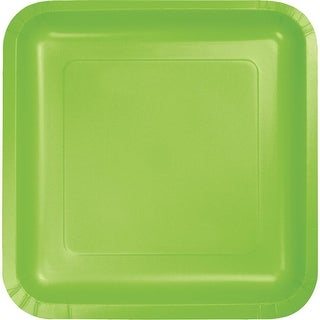 Pack of 180 Fresh Lime Premium Disposable Paper Party Dinner Plates 9""