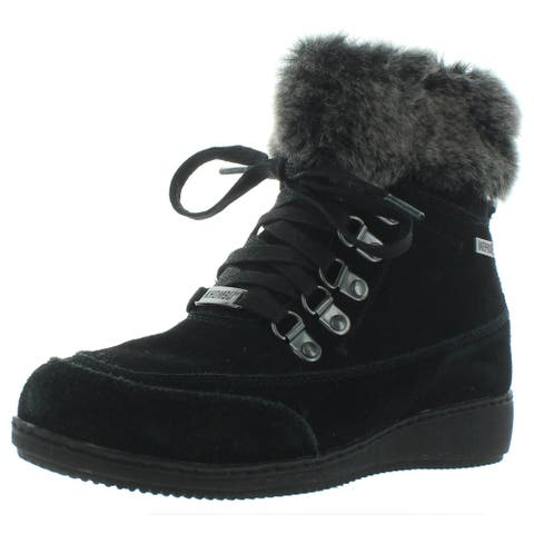 Khombu Womens Farros Winter Boots Suede Cold Weather - Black