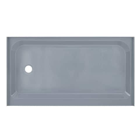 Voltaire 60 x 36 Single-Threshold, Left Drain, Shower Base, Grey