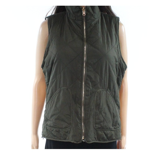 Thread & Supply Green Womens Size Large L Vest Reversible Jacket