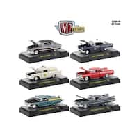 Auto Thentics 6 Piece Set Release 49 IN DISPLAY CASES 1/64 Diecast Model Cars by M2 Machines
