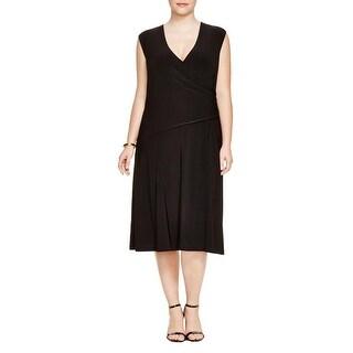 Nic + Zoe Womens Plus Casual Dress Wrap Sleeveless