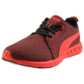 Puma Carson Runner 400 Jr Cube Youth Round Toe Synthetic Red Running Shoe