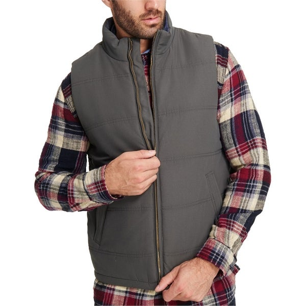 Weatherproof Mens Quilted Puffer Vest. Opens flyout.