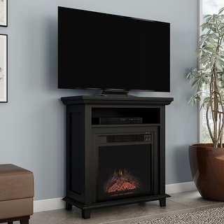 Copper Grove Siavonga Electric Fireplace TV Stand with Faux Logs and LED Flames - 27 x 12.4 x 29
