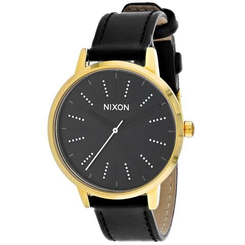 Nixon Women's Kensington Leather Black Watch - A108-2879 - One Size