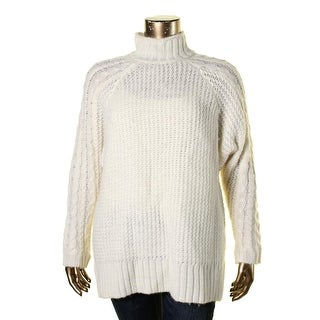 Guess Womens Wool Blend Cable Knit Pullover Sweater - XL