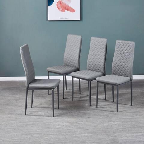 Nestfair Modern Diamond Pattern Dining Chair(Set of 6)