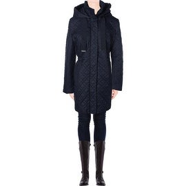 Elie Tahari Womens Mary Kate Quilted Zip Front Puffer Coat