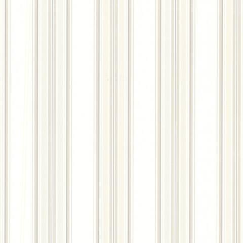 Marine Off-White Sailor Stripe Wallpaper - 20.5in x 396in x 0.025in