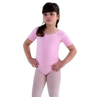 SoDanca Pink Short Sleeve Dance Leotard Toddler Little Girls 2T-10
