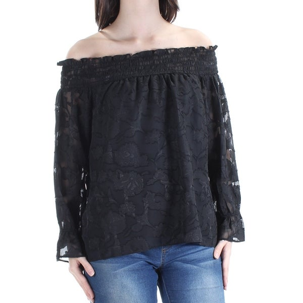 3dffff3030f67c Shop BAR III Womens Black Bell Sleeve Off Shoulder Top Size  XL - On Sale -  Free Shipping On Orders Over  45 - Overstock - 24061531