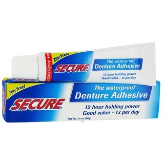 Secure Denture Adhesive Secure Denture Bondng Crm 1.4-ounce