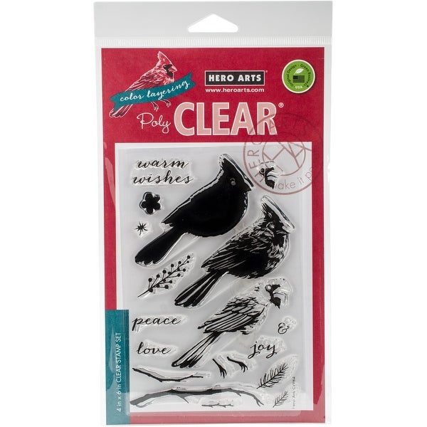 "Hero Arts Clear Stamps 4""X6""-Coloring Layering Cardinal"