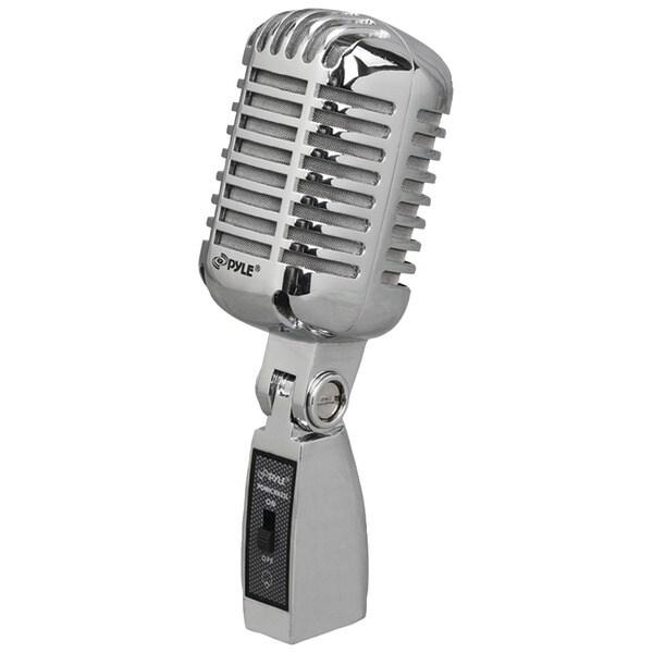 PYLE PRO PDMICR42SL Classic Retro Vintage-Style Dynamic Vocal Microphone (Silver)