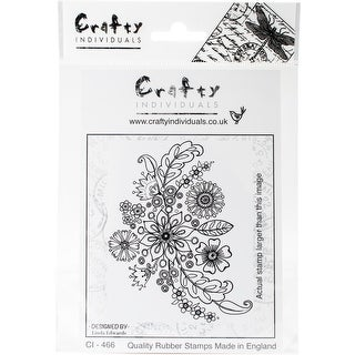 "Crafty Individuals Unmounted Rubber Stamp 4.75""X7"" Pkg-Floral Spray"