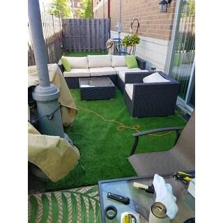 BroyerK 6-piece Beige Outdoor Rattan Patio Furniture Set