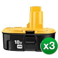 Replacement Power Tool Battery For DEWALT DC9096 - NiMH / 3000mAh / 18v (3 Pack)