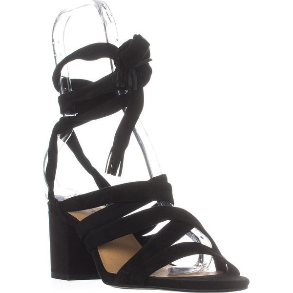Lucky Brand Idalina Lace-Up Strappy Sandals, Moroccan Blue - 6.5 us