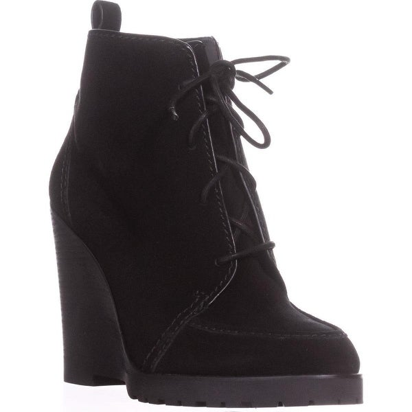 MICHAEL Michael Kors Piper Lace Wedge Ankle Boots, Black Suede