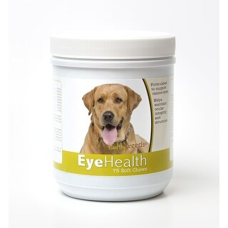 Healthy Breeds Labrador Retriever Dog Eye Care Support Soft Chews 75 Count
